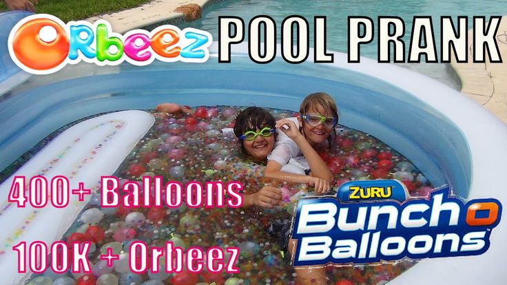 Orbeez and Buncho Balloons PRANK Pool Bath Celebration Shopkins 1000 Sub...