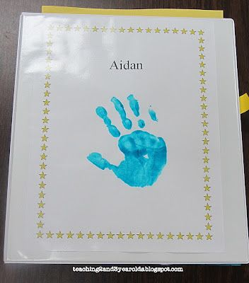 Teaching 2 and 3 Year Olds: Memory Books  keepsake binders to put work in throughout the school year