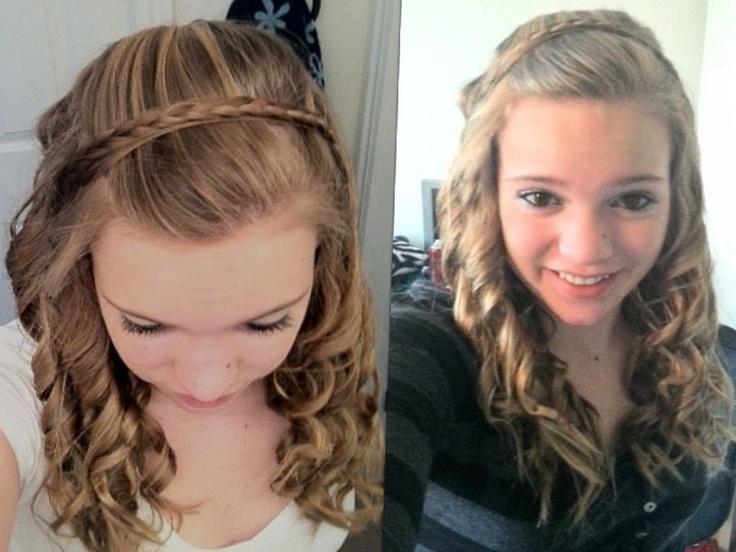 headband braid with curls - photo #3