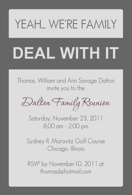 21 best Family Reunion Invitations images on Pinterest Family - family gathering invitation wording