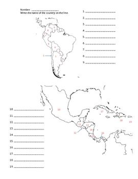 Blank South America Map Quiz