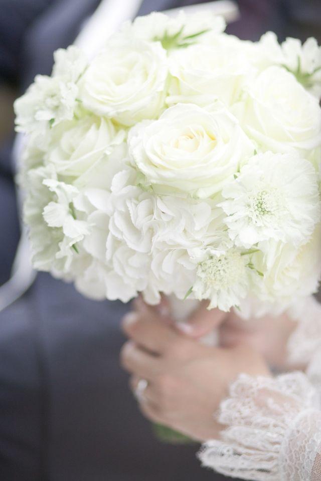wit bruidsboeket