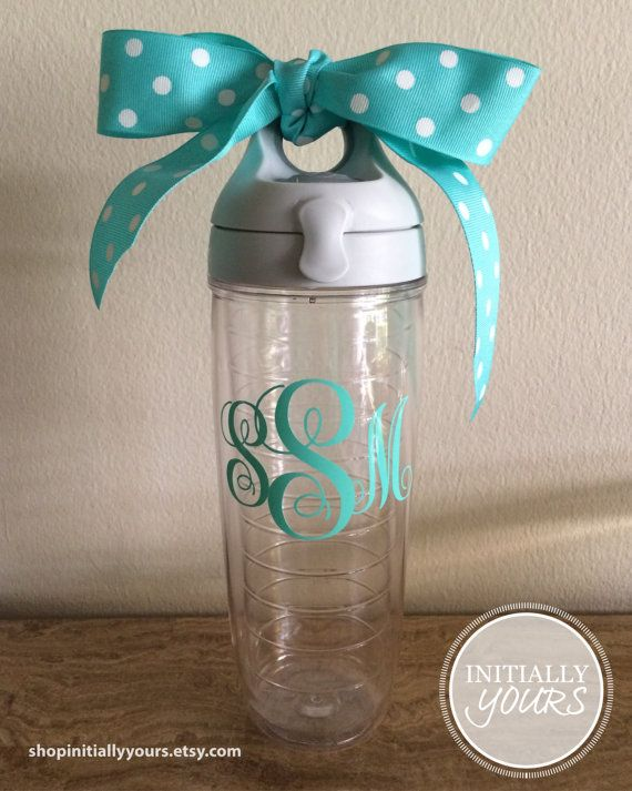Personalized Christmas gift! Monogram Tervis Tumbler Water by shopInitiallyYours