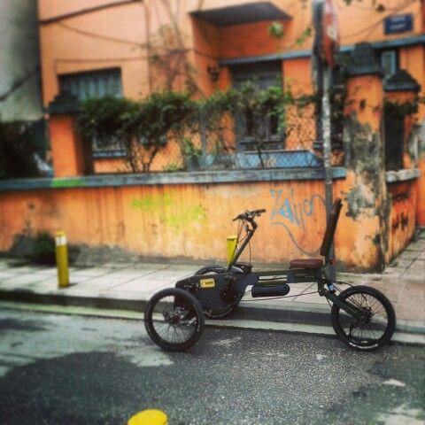 New leather @Paastel Trike / Thessaloniki #innovation #electricbicycle www.paasteltrike.com