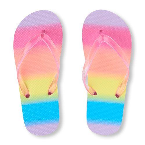 8c25c0d473a Girls Rainbow Flip Flop