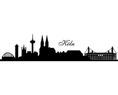 Wandtattoo Wandtattoo Köln Skyline + Stadion