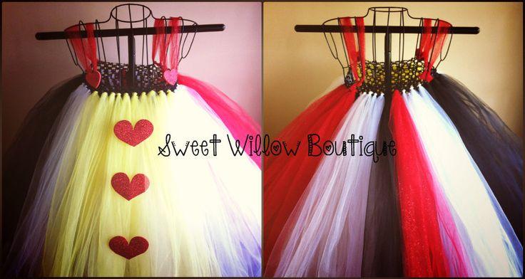 Queen Of Hearts Costume Diy Tutu Halloween costume. Hal...