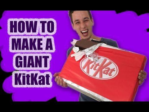 GIANT Kit Kat Recipe How To Cook That Ann Reardon make kitkat candy bar - YouTube