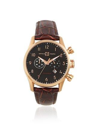 Officina del Tempo Men's OT1033/130MGM Style Brown/Black Chronograph Watch