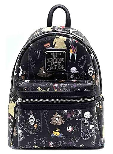 Loungefly x Nightmare Before Christmas Women s Allover-Print Character Mini  Backpack Review 0d76a5cb7b2