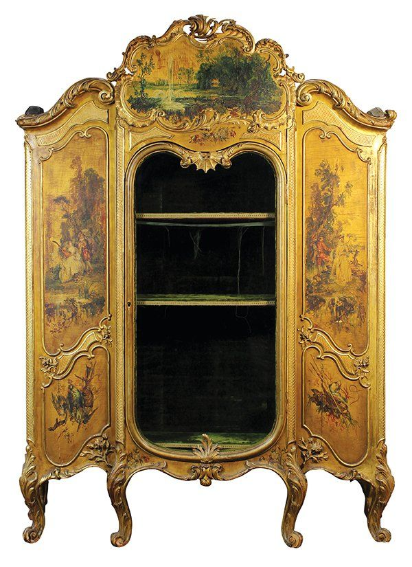 Continental gilt and paint decorated vitrine in the : Lot 6155 · Antique  CupboardLouis ... - 72 Best ANTIQUE CUPBOARD Images On Pinterest Antique Cupboard