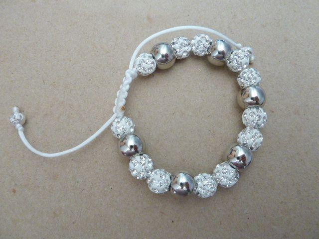 bílo-stříbrný náramek