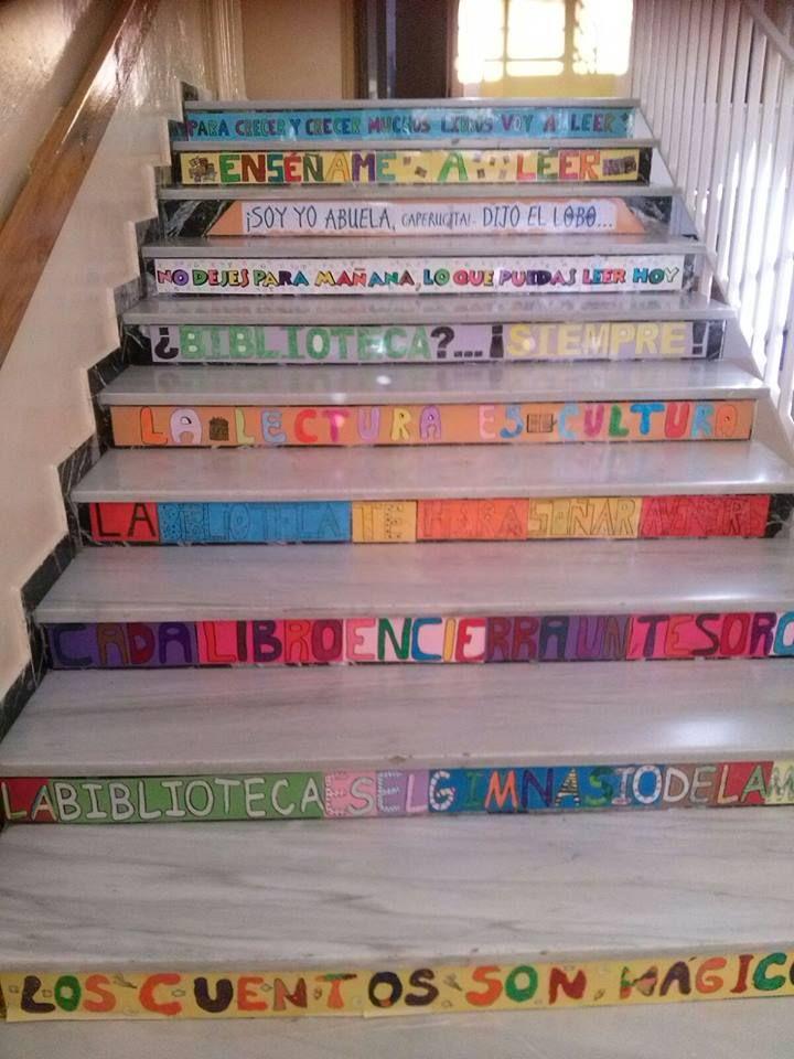 escalera elaborada en para la be del biblioverde de hutortjar andaluca https