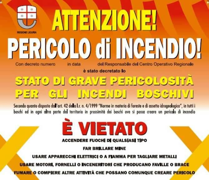 Stato di grave pericolosità per tutta la Liguria a causa degli incendi che stanno divampando ovunque e che hanno portato alla chiusura, nelle ultime ore, della A12 nel tratto Recco Nervi in direzio…
