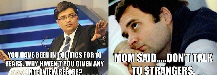 Interview Between Arnab Goswami And Rahul Gandhi #meme