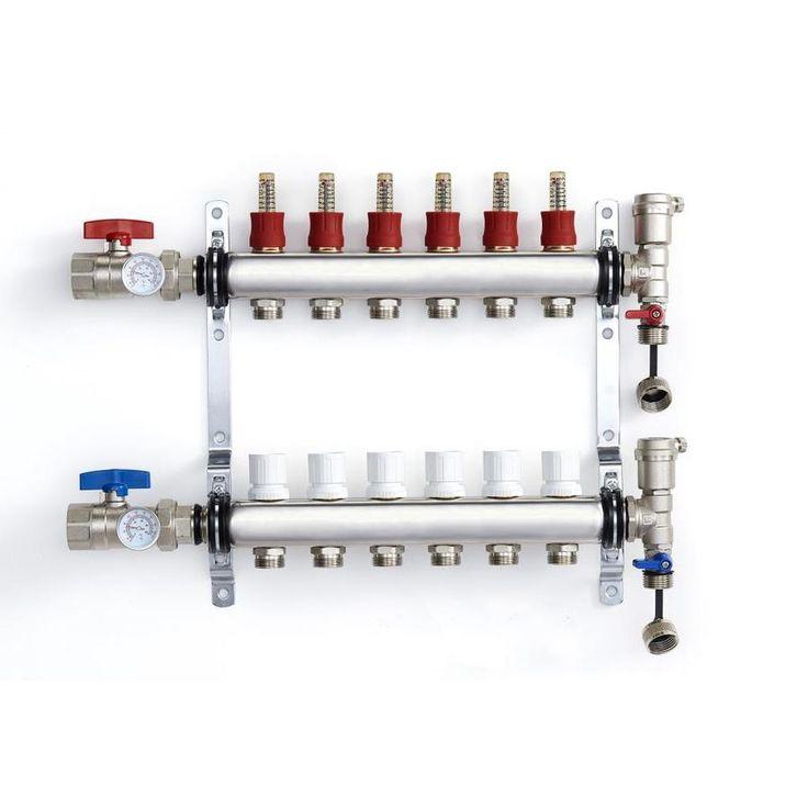 Charman manufacturing 6loop radiant heat pex manifold