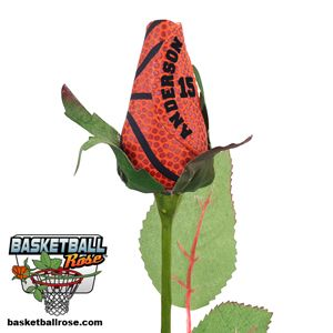 Basketball Rose™ with Player Name and Number