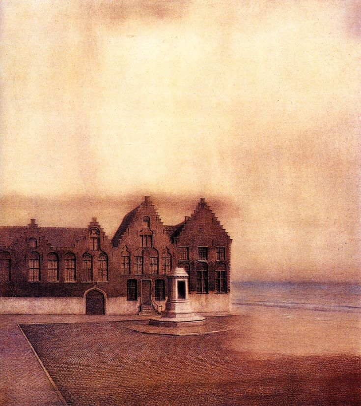 Fernand Khnopff, The Abandoned Town, 1904 + MORE ON PAGE