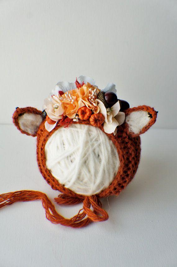 Flower Bonnet Floral Bonnet Garden Bonnet Fax by FashionTouch