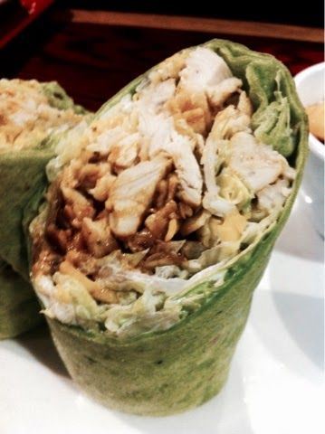 Healthy dinner idea: Chicken and Veggie Wrap (from Clean Eating Weight Loss Meal Plan 78)