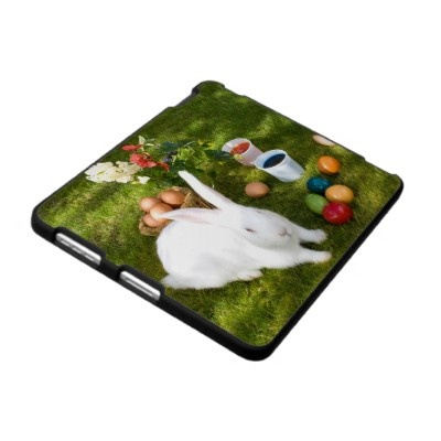 Easter Bunny And Colored Eggs iPad Cover  Happy Easter! Case For The iPhone 4  Take it today only with 50% discount (off all cases) with code CASEOFMONDAY