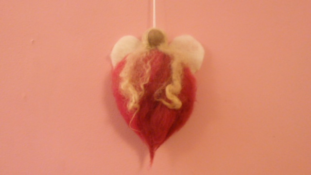 Felt angel £5, so soft & so gorgeous, fab Valentine's gift. At Greenwich Market every Friday.  By Handmade Companions.