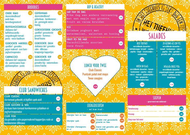 Lunchkaart Het Theehuis Grou zomer 2016