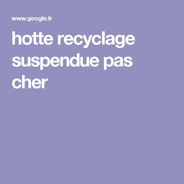 hotte recyclage suspendue pas cher