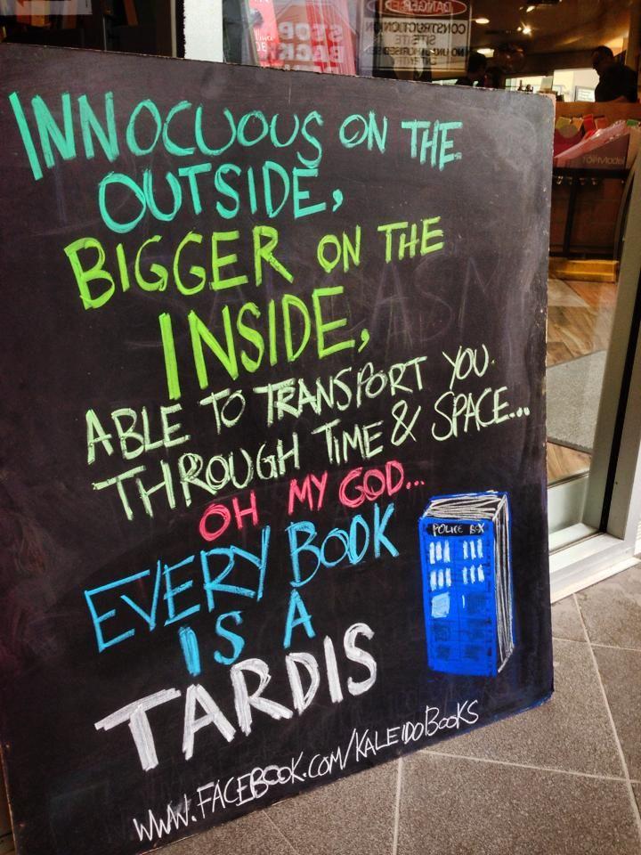 Every book is a TARDIS!! Kaleido Books, Australia