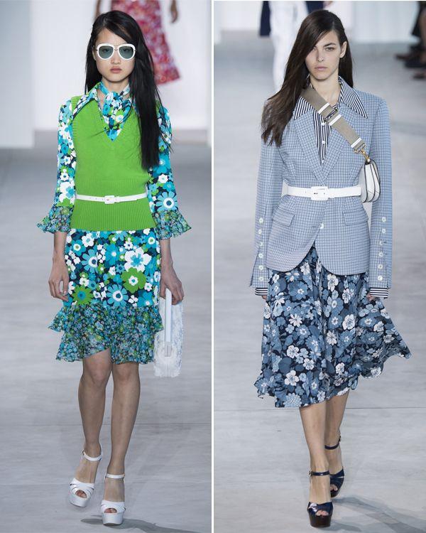 Образы в деловом стиле от Майкла Корса: жакет, юбка, рубашка