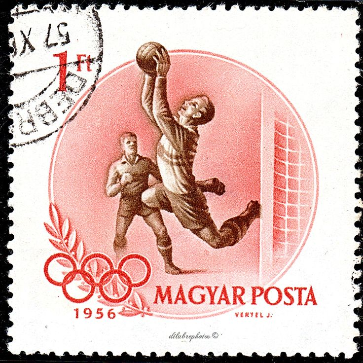 Hungary.  SOCCER. 16th OLYMPIC GAMES, MELBOURNE, NOV 22 - DEC 8, 1956.  Scott 1164 A260, Issued 1956 Sept 25. Wmk…   Postal stamps, Stamp collecting, Postage stamps