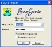 BayGenie eBay Auction Sniper - snipe eBay auctions