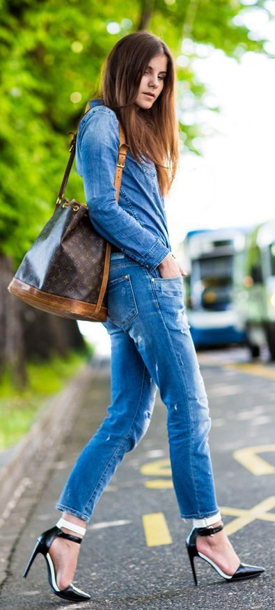 "Denim For The Win ✮✮Feel free to share on Pinterest"" ♥ღ www.WEDDINGRECEPTIONIDEA.ORG"