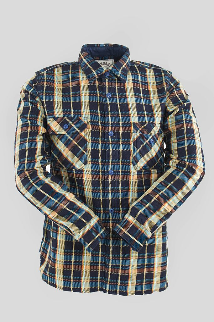 Indigo Rope Dyed Heavy Flannel Work Shirt | Shop