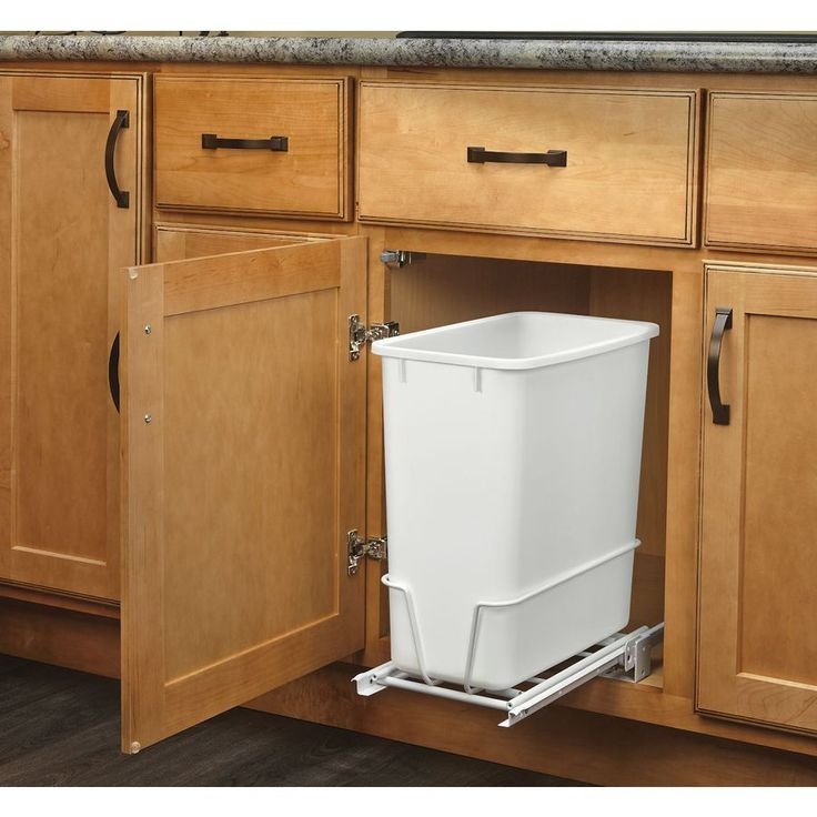 rev-a-shelf 20-quart plastic pull out trash can at lowes