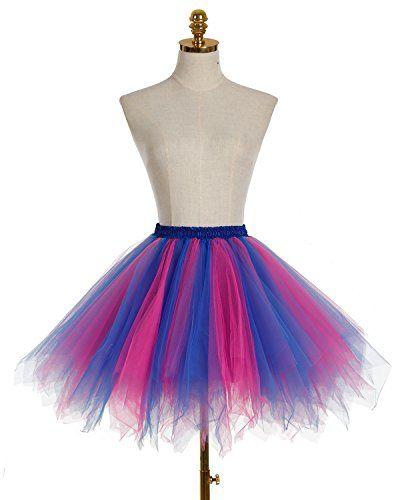 Bridesmay Mujeres Faldas Enaguas Cortas Tul Plisada Fiesta Tutu Ballet d67a88ffa9d6