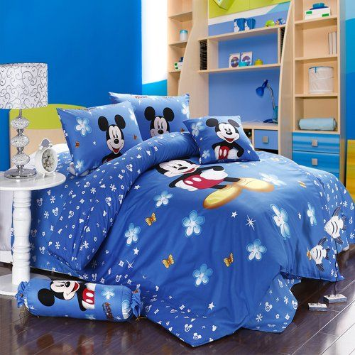 Mickey and Minnie Mouse T8 Blue Adults Cartoon Bedding Set 5 Pcs Include Comforter Duvet Cover Bedsheet and Pillowcase (King) SweetDream' D http://www.amazon.com/dp/B00K302LE0/ref=cm_sw_r_pi_dp_EyfKub0TQ9XR2