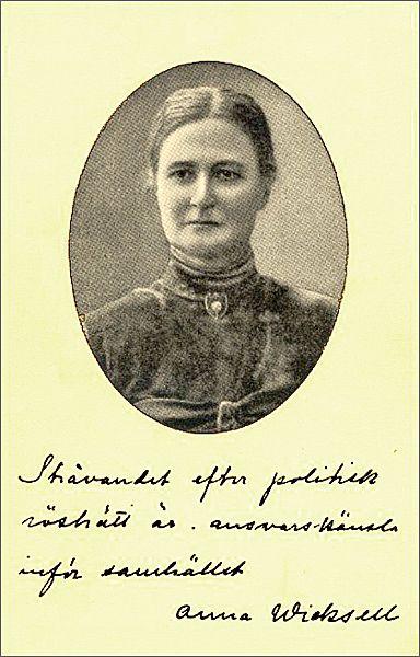Anna Bugge Wicksell norsk kvinnesakskvinne