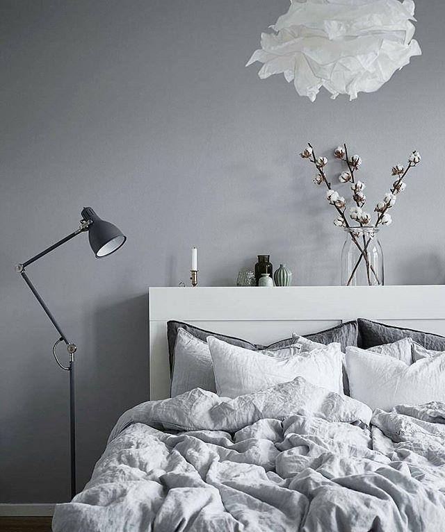 ARÖD floor/reading lamp. KRUSNING paper shade. Design: IKEA of Sweden. Sigga Heimis. Credit: @inredaremartinamattsson. @fotografjonasberg. @stadshem. @siggaheimis. #aröd #floorlamp #readinglamp #ikeaofswedendesign #krusning #papershade #siggaheimisforikea #siggaheimis #ikeadesigner #ikeadesign #ikea #ikea_lamps #ikealamp #lamp #fotografjonasberg #bedroom #bed #goodmorning #stayinbed #saturday #grey #white #bedlinen #interior #scandinavian #styling #stadshem #realastate #forsale #cotton