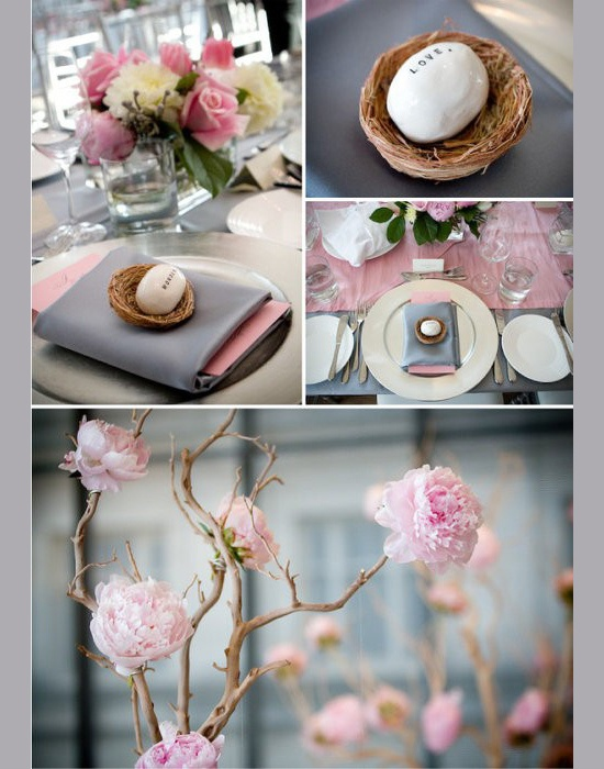 segnapostoTables Sets, Tables Scapes, Wedding, Cute Ideas, Inspiration Boards, Colors Palettes, Grey, Flower, Branches