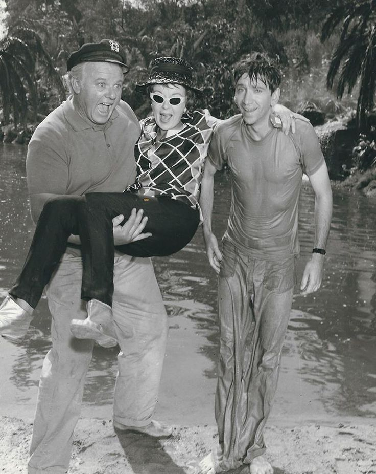 Bob Denver and Alan Hale Jr. with then director Ida Lupino 1964-66. [763 x 960]
