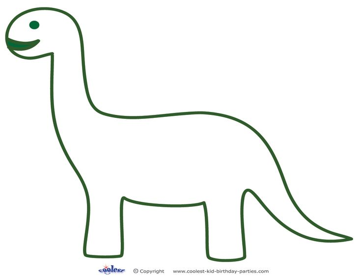 Printable Brontosaurus Decoration - Coolest Free Printables