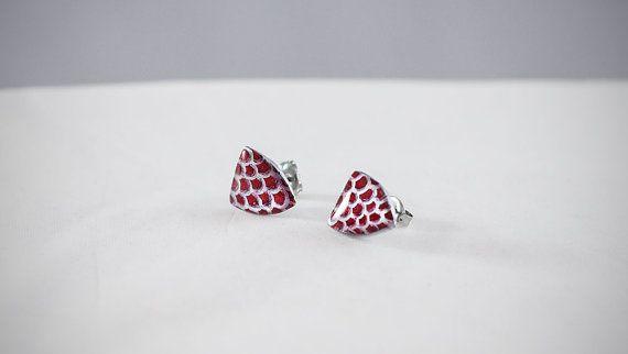 #handmade #heraldic #earrings #fishscale #thesilverlance #etsy