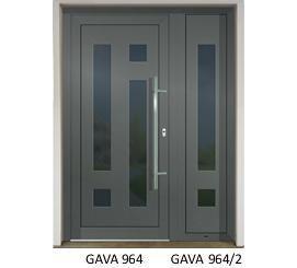 GAVA 964+964/2 Basaltgrau domové dvere