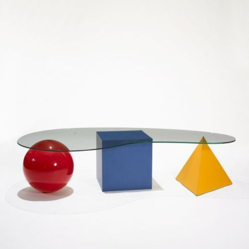 Fantastically gimmicky Bauhaus inspired coffee table.