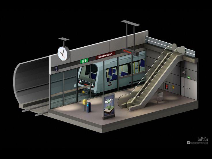 Copenhagen Metro Station by Barrington Russell