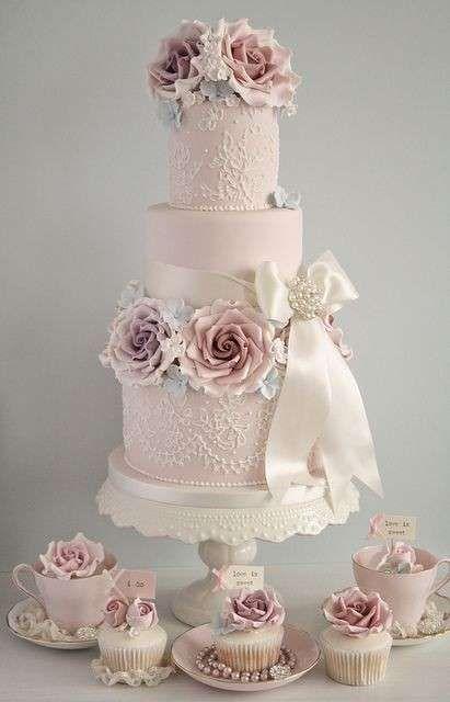 Torte nuziali rosa, le proposte più belle - Torta e dolci rosa