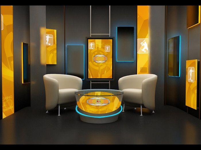 Simple Talk Show Set Design