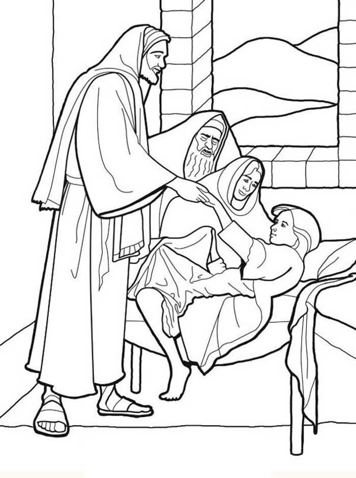 Elegant Baptism Of Jesus Coloring Page 99 jesus curing people Colouring