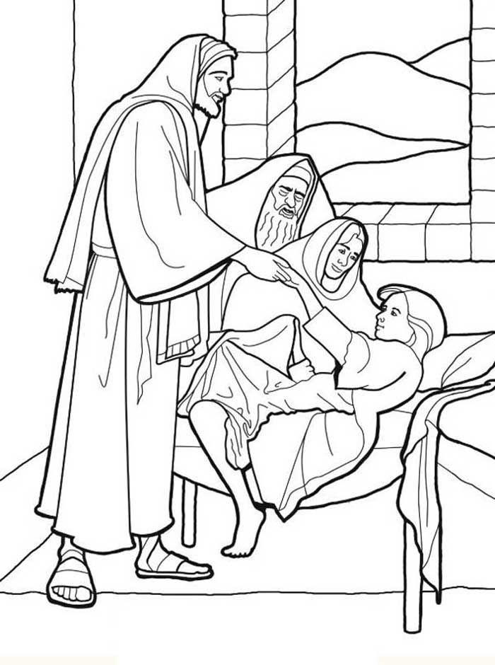 hezekiahs prayer for healing coloring pages | 36 best Jairus Daughter images on Pinterest | Jairus ...